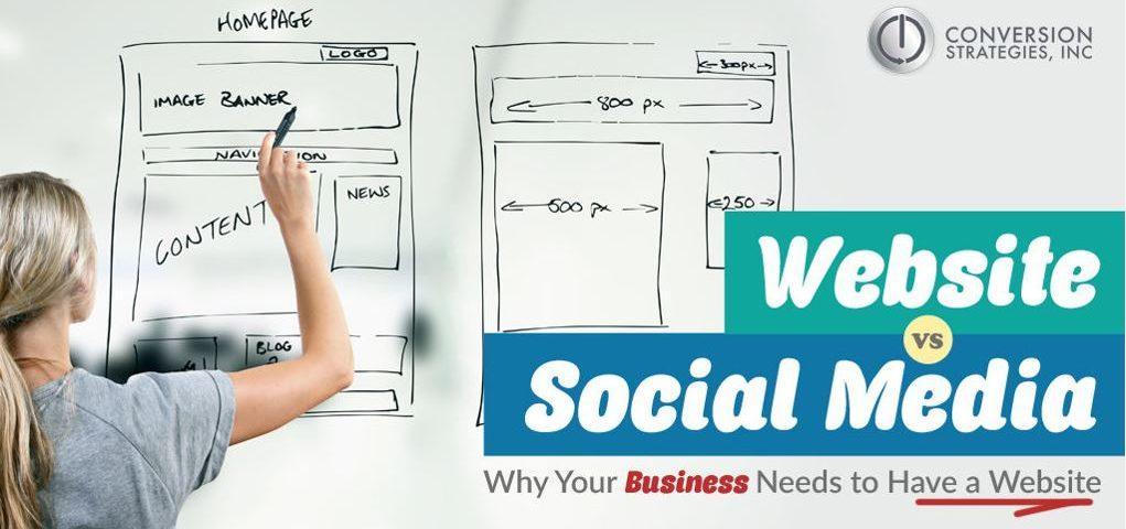 Web design versus Facebook